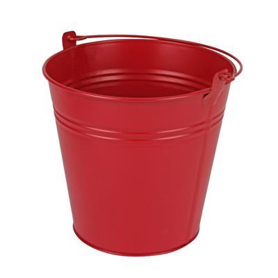 <h4>Bucket Sevilla zinc Ø15,5xH14,8cm -ES14/15 red mat</h4>
