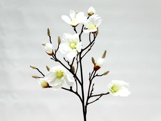 <h4>Silk Magnolia White 120cm Stem</h4>