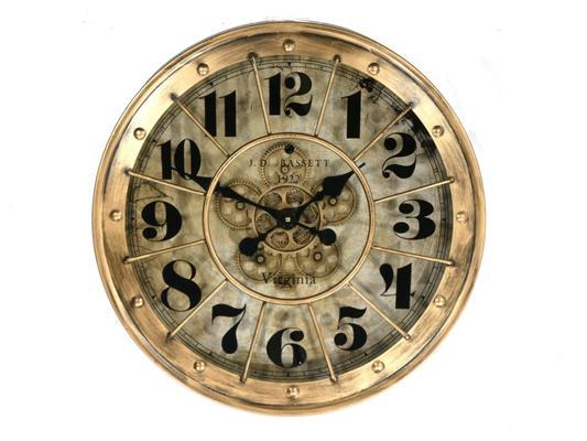 <h4>Clock Gear Ø60cm Ant.gold/wht</h4>