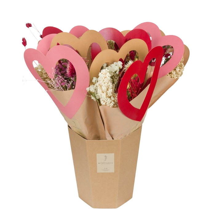 <h4>MARKET MORE - BUNCHES OF LOVE PINK-RED</h4>