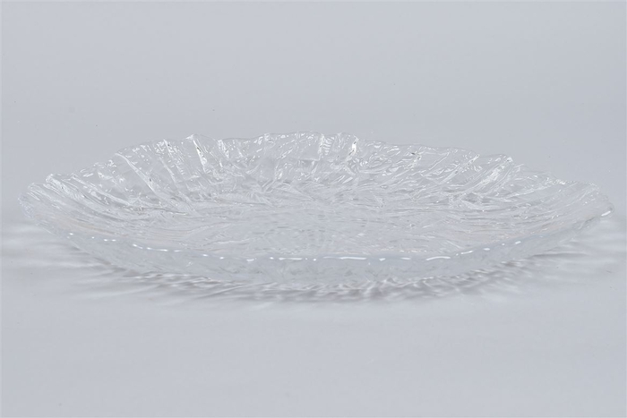 <h4>Glas Schaal Ice Ovaal 38cm</h4>