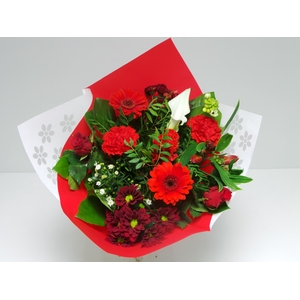 Bouquet Biedermeier Medium Red