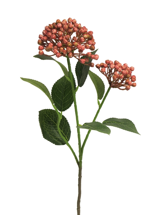 <h4>SILK HYDRANGEA BUDDING SPRAY X2 RED 55CM 13039-3</h4>