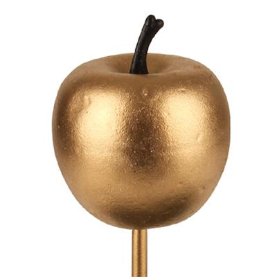<h4>Bijsteker appel glans foam 4cm+12cm stok goud</h4>