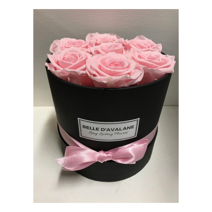 <h4>Flowerbox rd 15cm zwart/roze</h4>