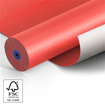 <h4>Papier 60cm Kraft 50gr blanc rouge Fond 400m.</h4>