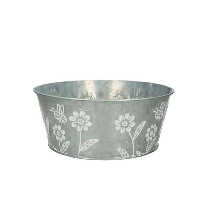 <h4>Zinc Flower bowl d22*9.5cm</h4>