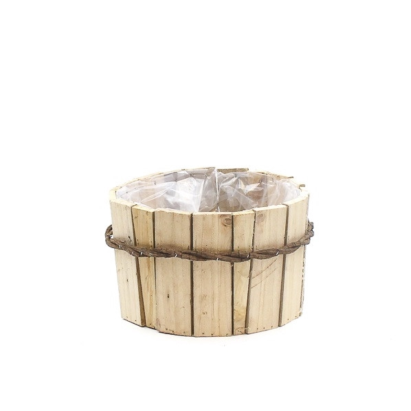 <h4>Hout Planter Bamboo d26*15cm</h4>