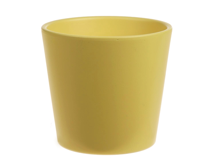 <h4>DF885093700 - Pot Dida d13.5xh12.5 lemon matt Tray/9</h4>