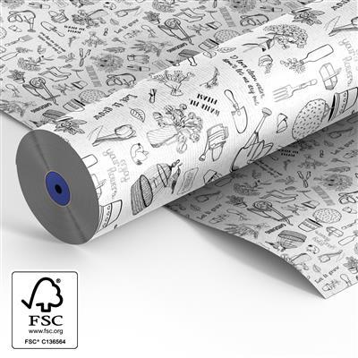 <h4>Papier sur rouleau 60cm bl. kraft  Fl Stories 500m</h4>