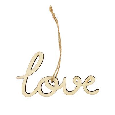 <h4>Pendentif Love Letters bois 5,5x10cm+16cm corde</h4>