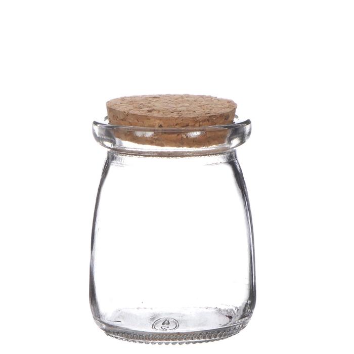<h4>Glas Pot+kurk d09*12.5cm</h4>
