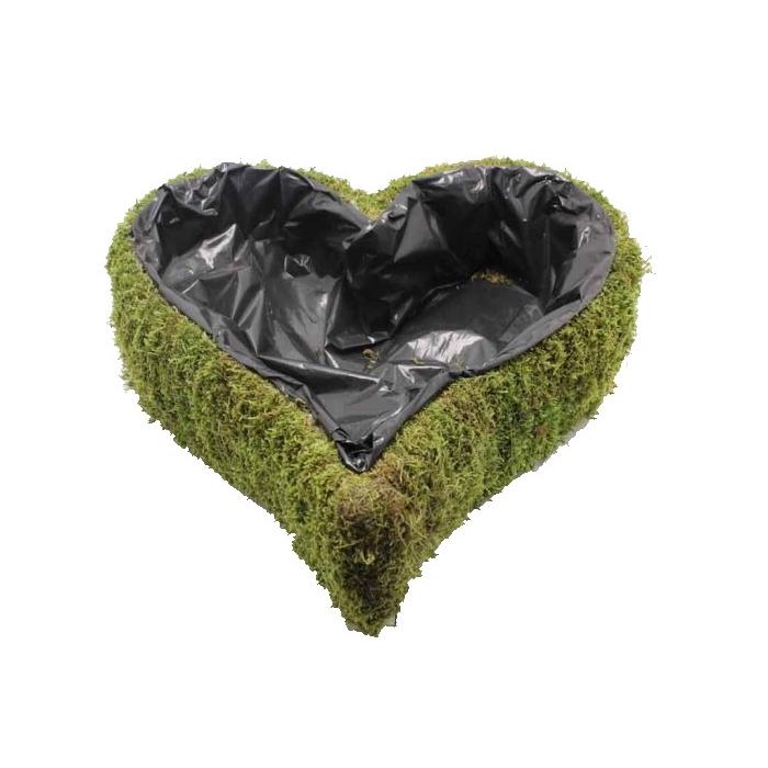 <h4>Planter flat moss Heart L40cm B40cm Naturel</h4>