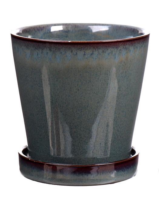<h4>DF540261725 - Pot+saucer Avelon1 d10.5xh10.5 green</h4>