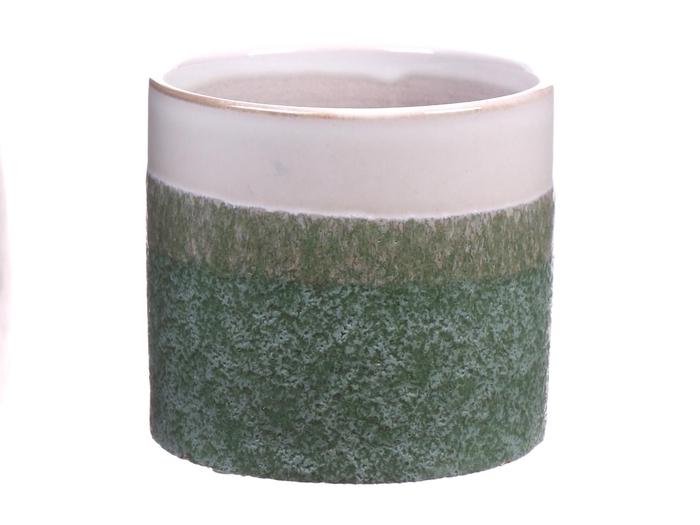 <h4>DF550080825 - Pot cylinder Tobias1 d10.8xh9.5 green</h4>