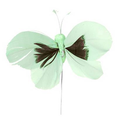 <h4>Pique Papillon 6x10cm+fil 12cm 48pcs vert</h4>