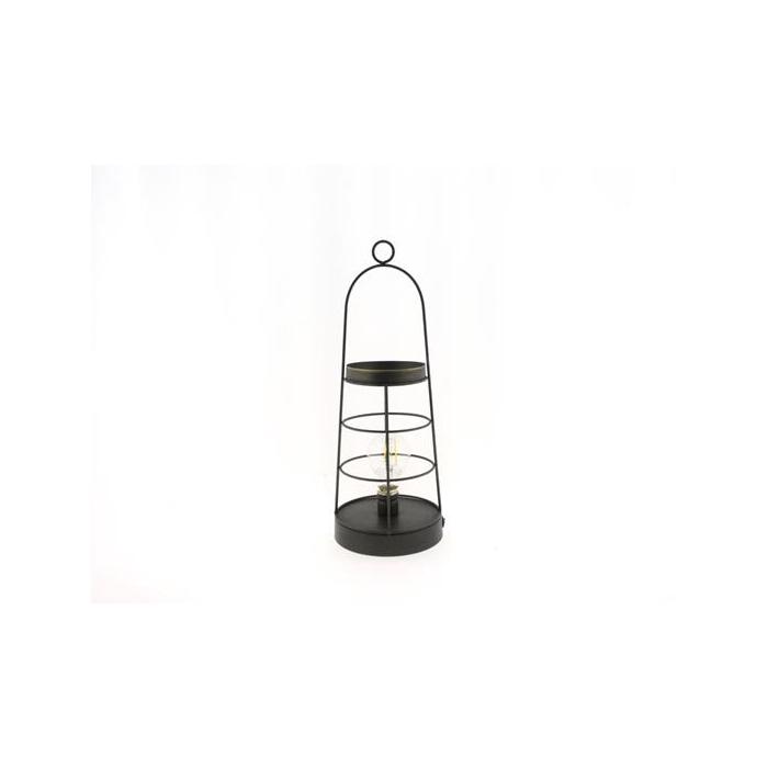 <h4>Lantern Mtl Led Ø15x40 Blk/gld</h4>