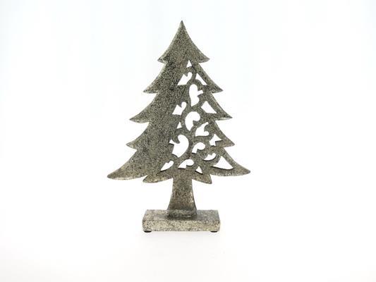 <h4>X-mas Tree Wood 43cm Platinum</h4>