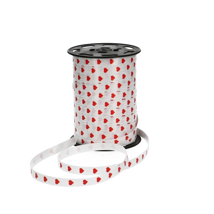 <h4>Ribbon Curly ribbon 10mm 250m Hearts</h4>