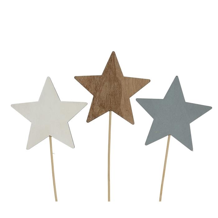 <h4>Christmas sticks 20cm Wood star d9cm</h4>