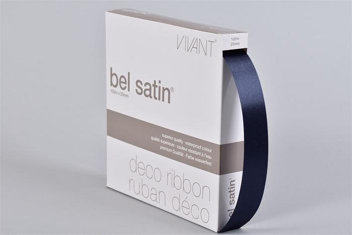 <h4>Lint Satin 44 Nachtblauw 100m X 25mm P/1</h4>