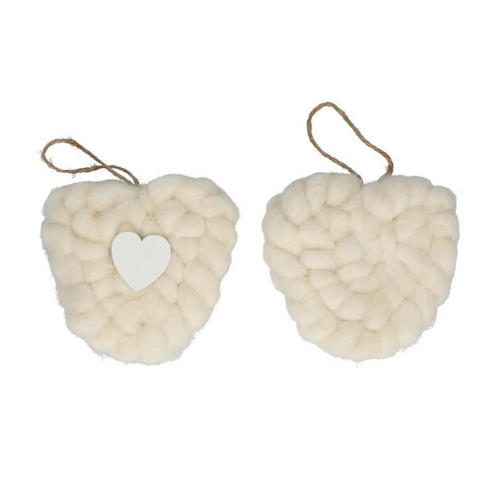 <h4>Liefde Hanger hart wol d11.5cm</h4>