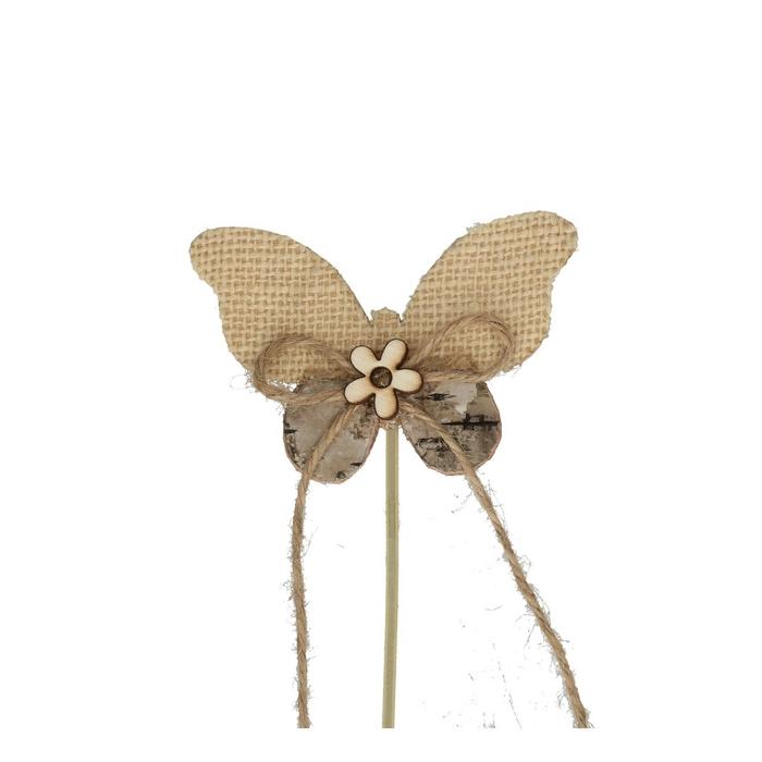 <h4>Bijsteker 20cm Naturel vlinder 7cm</h4>