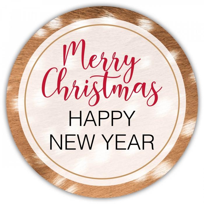 <h4>Kerst Sticker 40mm x100 Merry Chris.</h4>