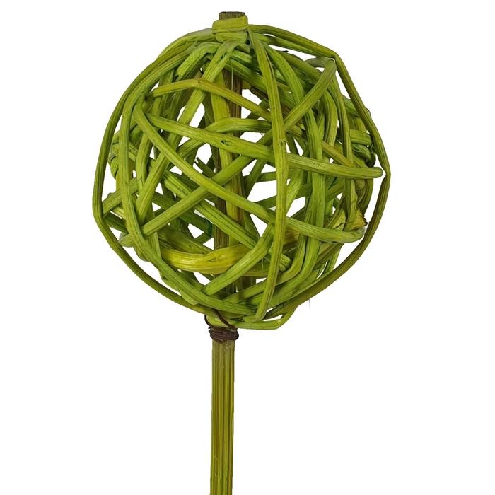 <h4>Bruce ball 5cm on stem Hot light green</h4>