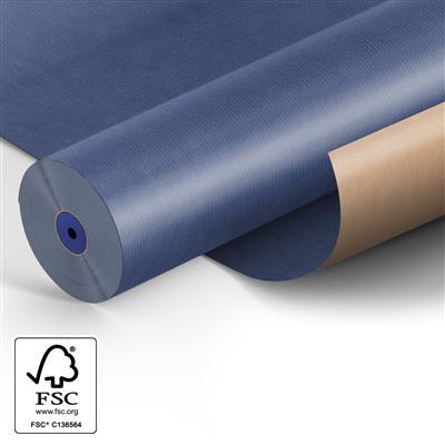 <h4>Papier: 50cm br. kraft 50gr Fond blauw 400m.</h4>