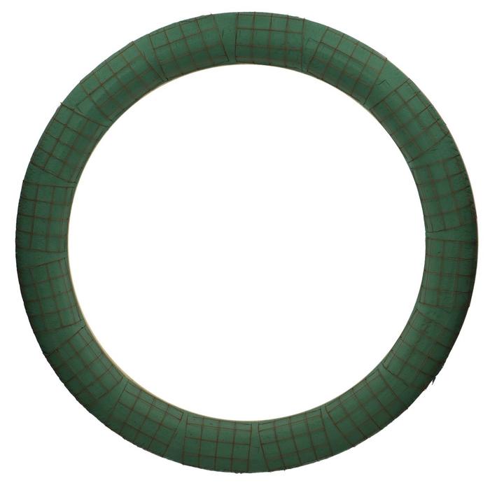 <h4>Foam Basic Wreath+wood d75cm</h4>