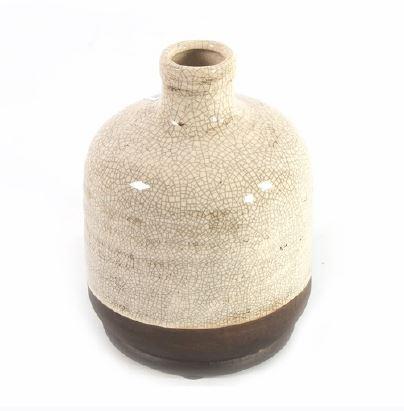 <h4>DF883821900 - Vase Roark cream 19cm</h4>