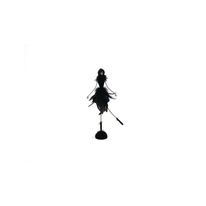 <h4>Fig. Black Feather Angel 46cm</h4>