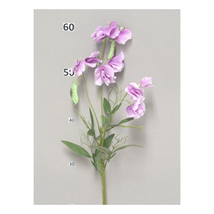 <h4>SILK FLOWERS - SWEET PEA SPRAY LAVENDER 70CM</h4>