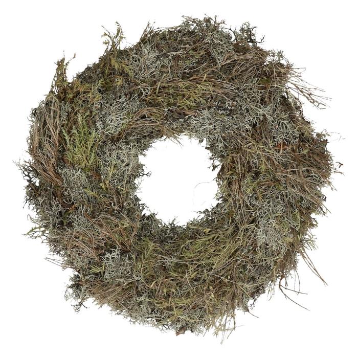 <h4>Wreath d40cm Moss+herb</h4>