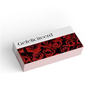 <h4>Bloemkaart stylish 02 gefeliciteerd-pakje 20 stuks</h4>