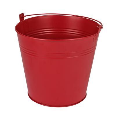 <h4>Bucket Sevilla zinc Ø17,8xH15,8cm - ES17 red matt</h4>