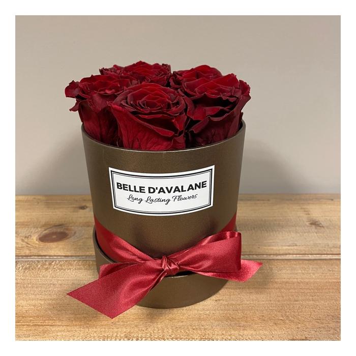 <h4>Flowerbox rd 12cm brown-burgundy</h4>