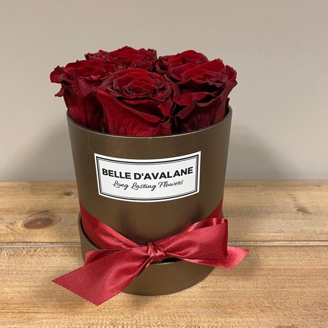 Flowerbox rd 12cm brown-burgundy