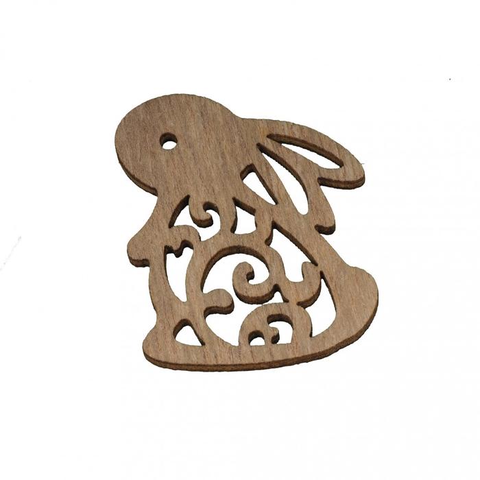 <h4>Pasen Konijn hout 3.5*4cm x24</h4>