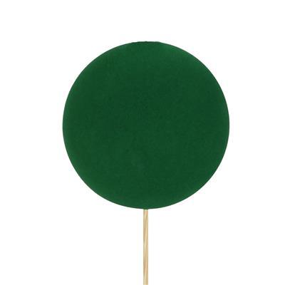 <h4>Bijsteker kerstbal Velvet Ø8cm+50cm stok groen</h4>