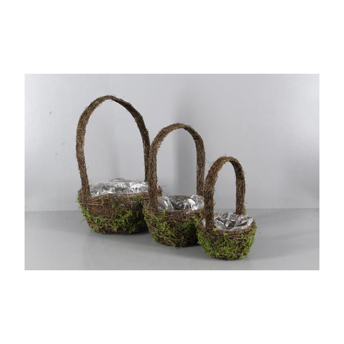<h4>Planter Moss+handle S/3</h4>