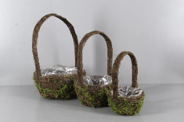 <h4>Planter Moss+handle S/3</h4>