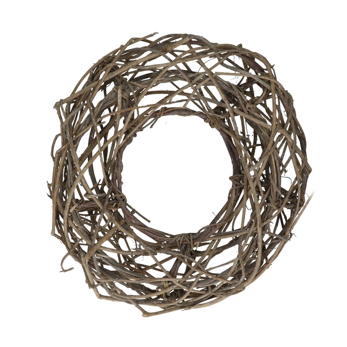 <h4>Wreath d38cm Woven open Frosted</h4>