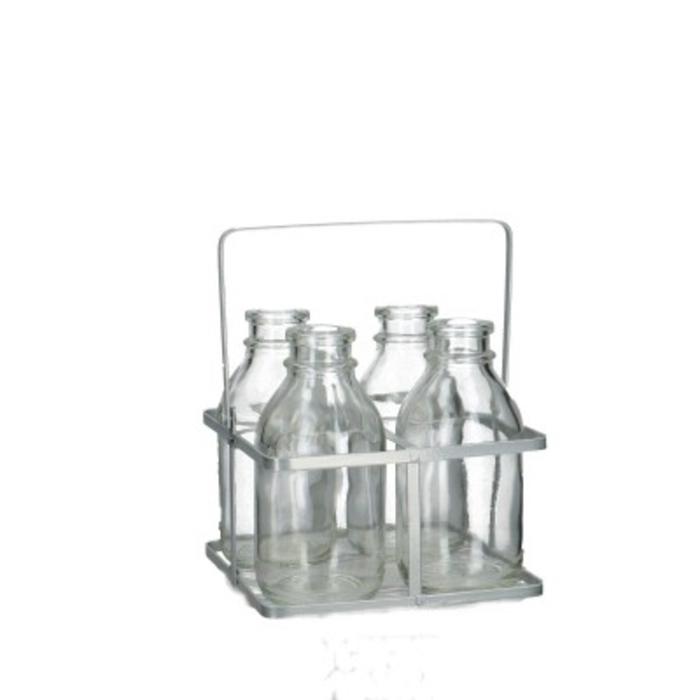 <h4>Glas Tray+4fles d02*12cm</h4>