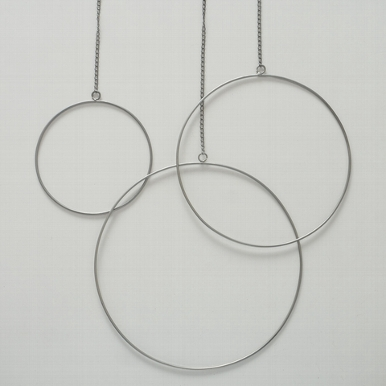 <h4>Decorative pendant Rumba, Round, With hanger, D 30,00 Quantity in set: 1; cm, Iron iron silver</h4>