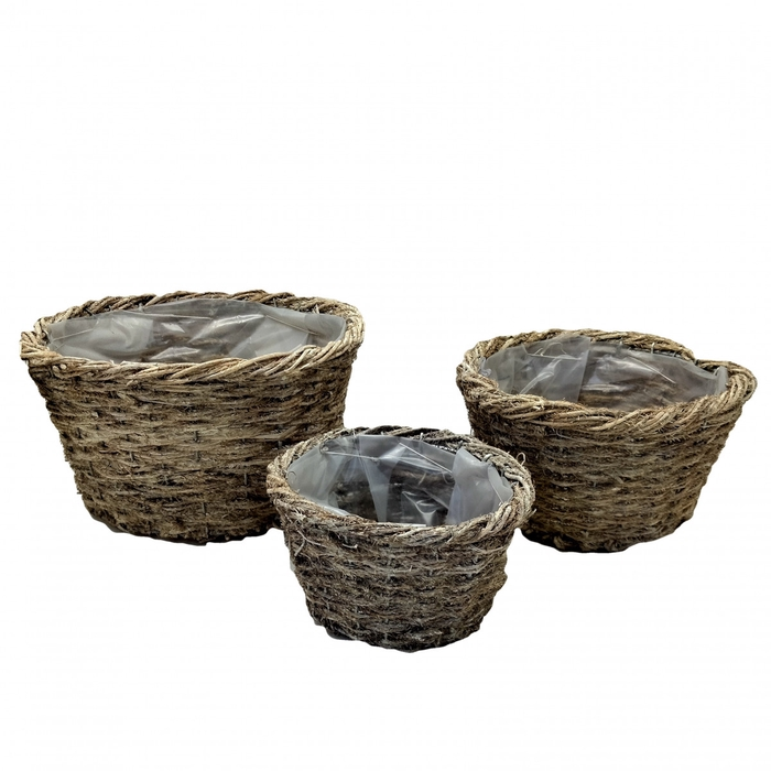 <h4>Baskets Tray round S/3 d18*15cm</h4>