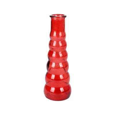 <h4>Vaas Bubble Ø6xH21cm glas rood/oranje</h4>