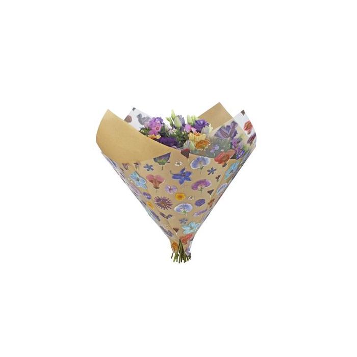 <h4>Hzn 35x35cm Oblique Opp40/45gr Kraft Dried Flowers</h4>