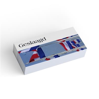 <h4>Bloemkaart stylish 31 geslaagd -pakje 20 stuks</h4>